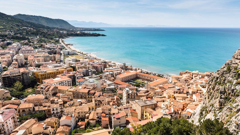 View of Cefalù from La Rocca