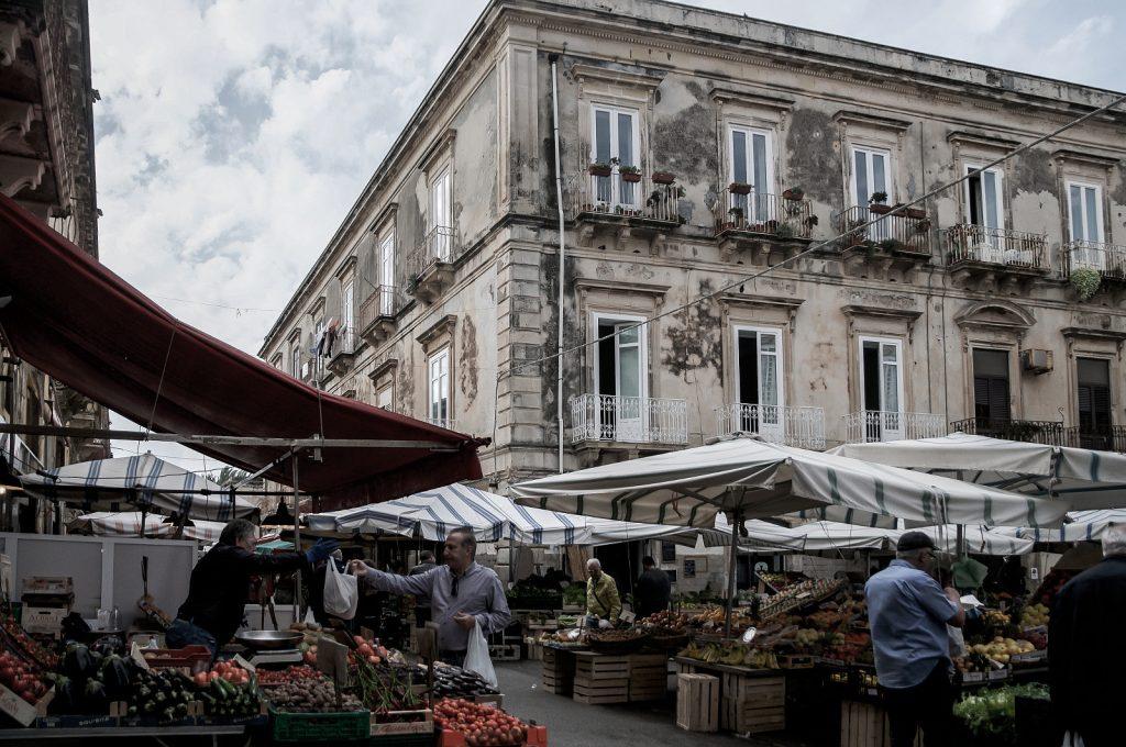 Ortigia's historic street market